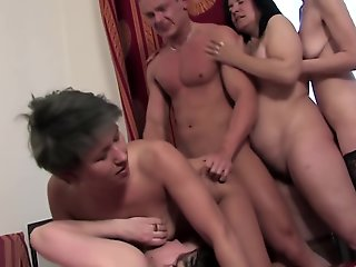 granny, gangbang, group sex, mature, straight,