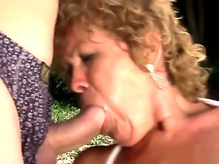 big tits, big ass, mature, granny, hardcore, outdoor
