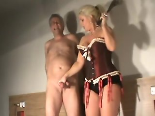 blonde, ballbusting, fetish, milf, straight,