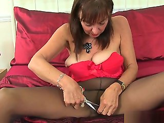granny, british, mature, milf, stockings, straight