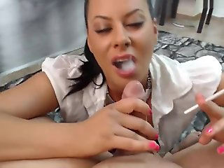 hd, blowjob, smoking, straight, ,