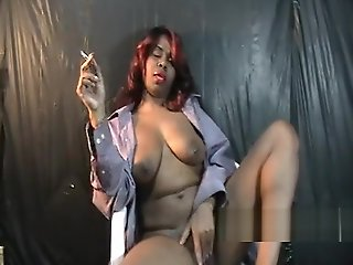 masturbation, ebony, smoking, solo female, straight,
