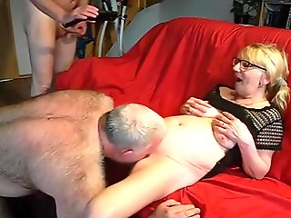 straight, bisexual, couple, mature, blowjob, threesome