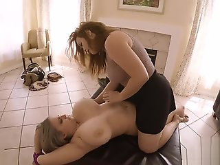 big tits, big ass, blond, hd, lesbian, massage